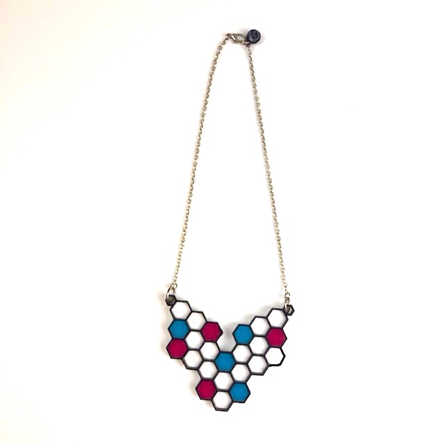 NECKLACE 80s HONEYCOMB
