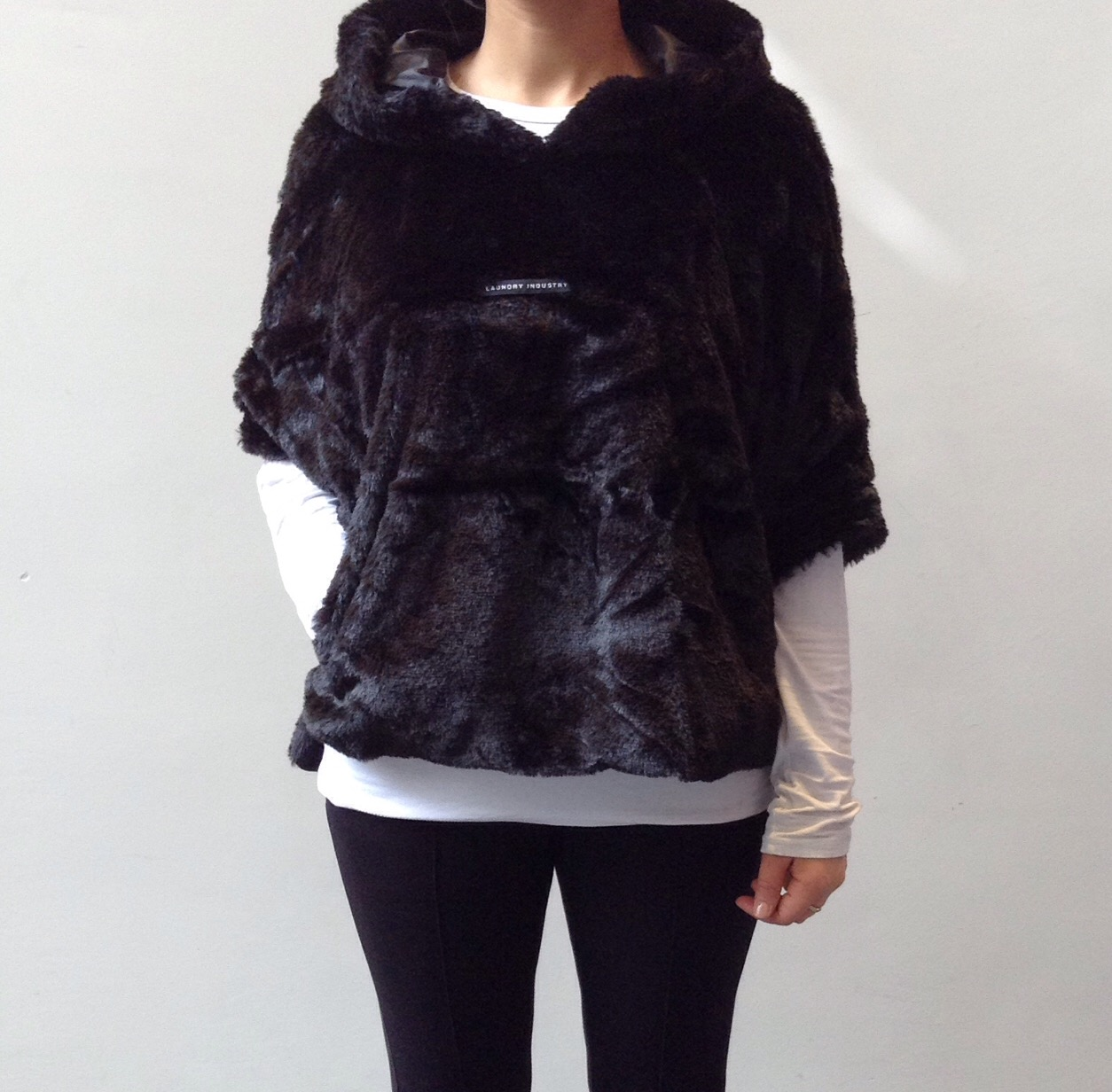 FAUX FUR HOODY