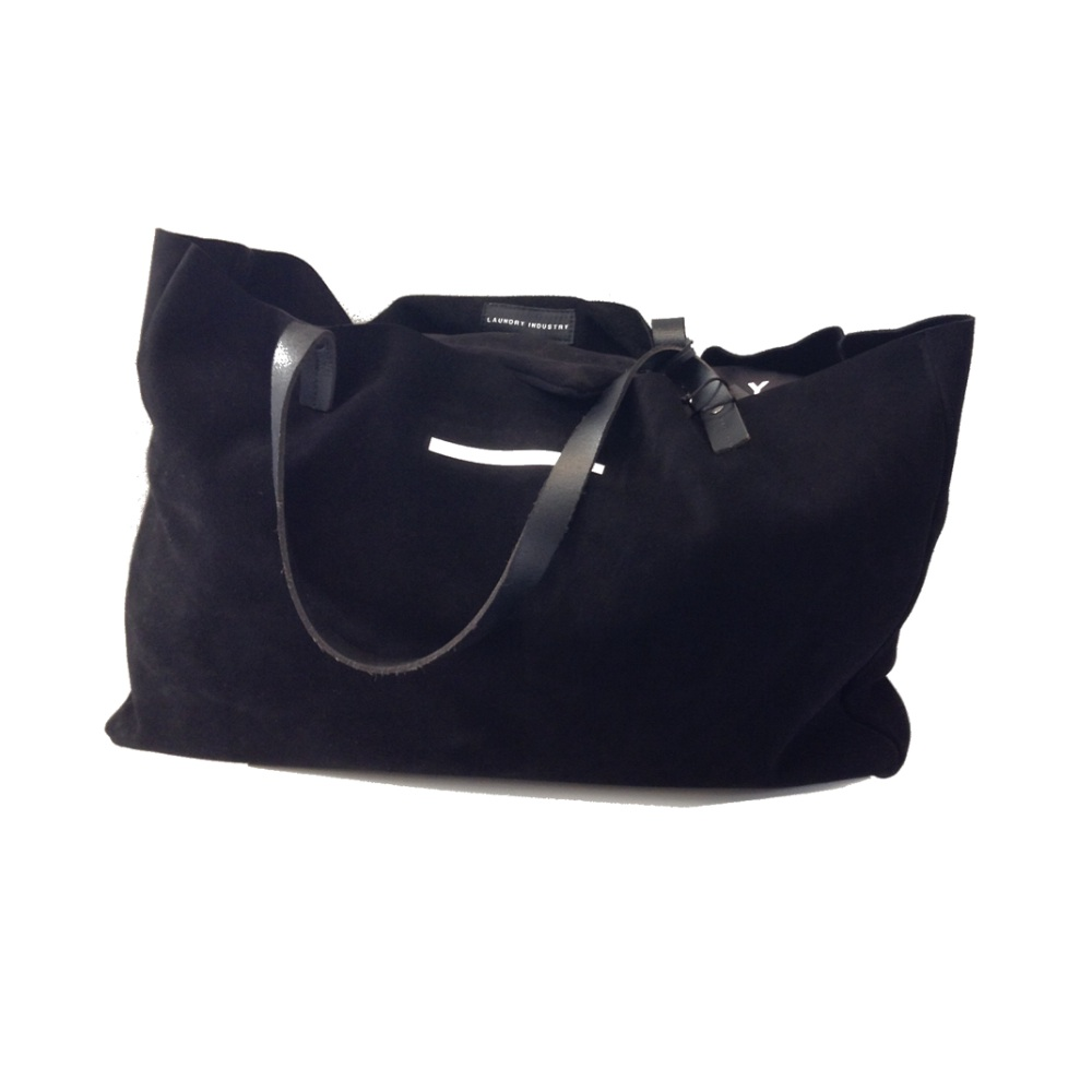 suede shopping bag large